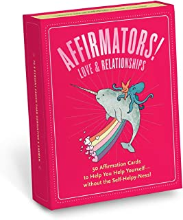 Affirmators! Love & Relationships: 50 Affirmation Cards to Help You Help Yourself - Without The Self-Helpy Ness! (12320)