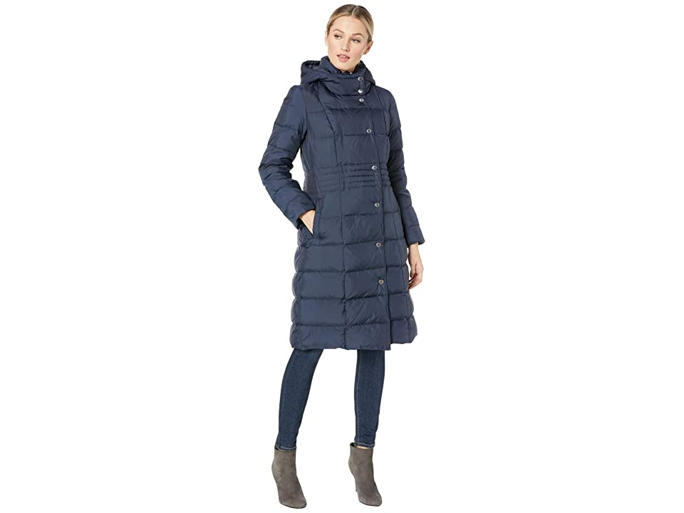 Cole Haan 40 Down Coat with Bib (Navy) Women