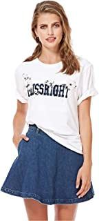 Miss Sixty Womens Fashion Shirt Short Sleeve Casual T-Shirt, Color White, Size S
