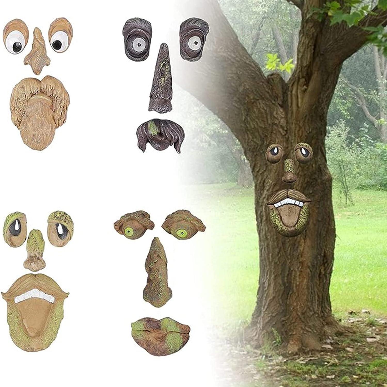 Old Regular dealer Man Tree Hugger Yard Decor Creative Easter Max 51% OFF Statues Face