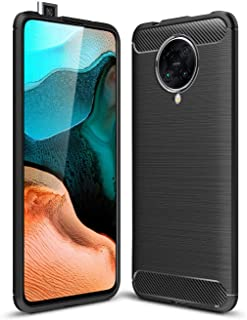 Toppix Case for Xiaomi Poco F2 Pro, Soft TPU Bumper with Carbon Fiber Texture, Scratch-Resistant Protective Cover Xiaomi P...