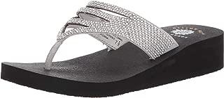 bling white flip flops