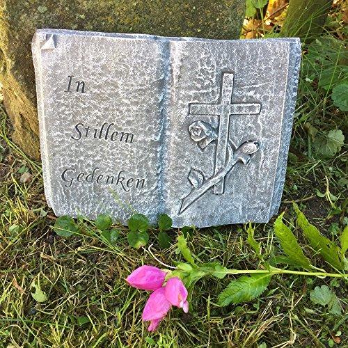 Antikas - Livre romantique avec croix – Bijoux pour tombe d'animaux de compagnie, cimetière.