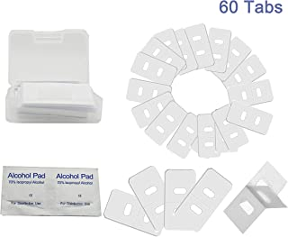UFelice 60 Tabs Clear Vertical Blind Repair Tabs Vertical Blind Vane TabsBlind Fixers, Total 60 Tabs of 30 Sets + 4 Alcohol Wipes.