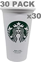 Starbucks Reusable Travel Cup To Go Coffee Cup (Grande 16 Oz)30 pack