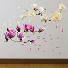 """Walplus """"Magnolia Flowers"""" verwijderbare zelfklevende muurstickers muurschilderingen kinderkamer kantoor woondecoratie"""