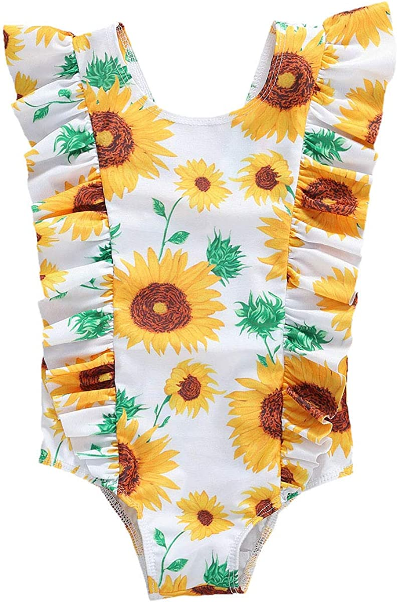 Baby Girl's One Piece Swimsuit Floral Product Todd Max 54% OFF Bathing Swimwear Suit