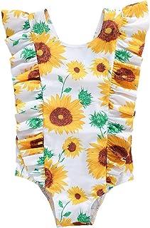 Merqwadd طفل لطيف الأزياء كشكش المايوه الاطفال ملابس الشاطئ