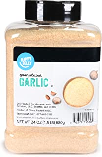 Amazon Brand - Happy Belly Granulated Garlic, 24 Ounces