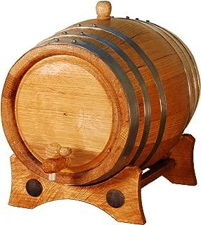 Barril artesanal de roble americano de 5 litros. Kit de añ