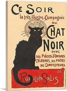 ARTCANVAS La Tournee du Chat Noir 1896 Canvas Art Print by Theophile Steinlen - 40