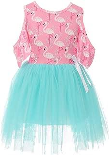 Little Girl Dress Kids Off Shoulder Tulle Birthday Summer Flower Girl Dress 2-8