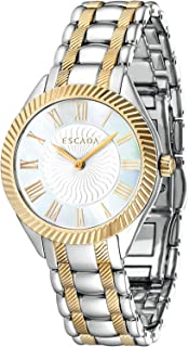 Escada Zoe Women Analogue Watch With White Mother Of Pearl Dial And Silver And Gold Plated Stainless Steel Bracelet - E473...