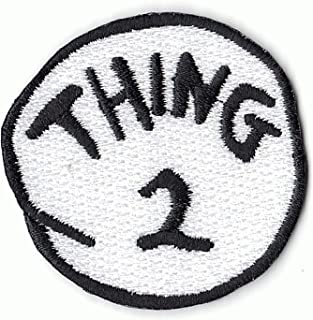 Thing 2 DIY Iron On Embroidered Applique Patch