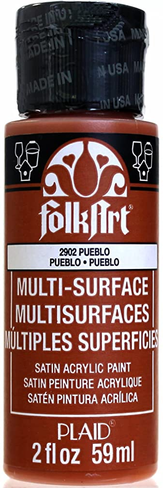 FolkArt Multi-Surface Paint in Assorted Colors (2 oz), 2902, Pueblo