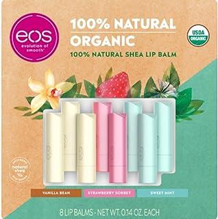 eos Organic Lip Balm Sticks, 8-pack