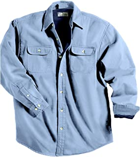 d75d52b6 FREE Shipping on eligible orders. TRM Men's Cotton Tahoe Stonewashed Fleece Denim  Shirt Jacket (10 Color, XS-6XLT