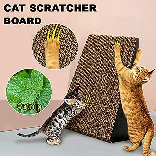 Triangle Cat Corrugated Scratch Kitten Pet Claw Cardboard Scratcher Scratching Post Board Bed Toy Mat Pad Catnip