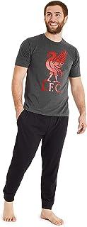 Liverpool F.C. Pijama Hombre, Pijamas Hombre de Futbol, Conjunto 2 Piezas Camiseta Manga Corta y Pantalones, Regalo para Hombre y Adolescente Talla M-3XL