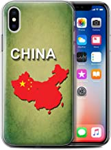 Stuff4®Phone Case/Cover/Skin/IP-gc/Flag Naciones Collection Chine/Chinois Apple iPhone XS