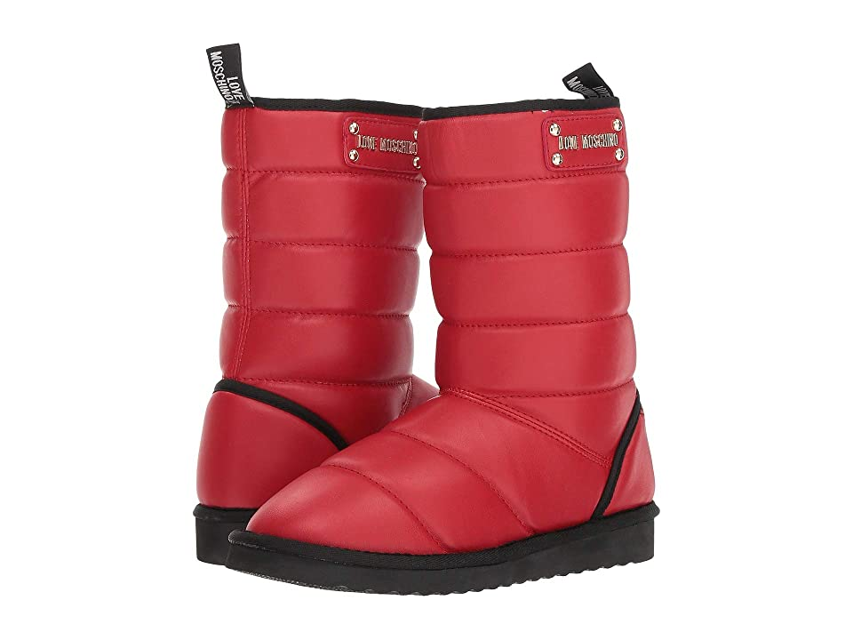 LOVE Moschino Quilted Ankle Boot (Red) Women