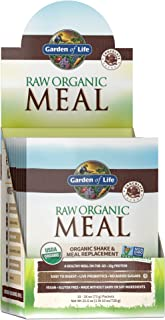 Garden of Life Raw Organic Meal Replacement Powder - Chocolate, 20 Servings (10ct Tray), 20g Plant Based Protein Powder, S...