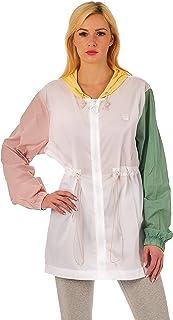 Fila Women's Hooded Jacket, White/Pale Banana/Pink Chalk/Feldspar