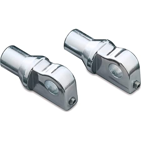 Kuryakyn 8008 Motorcycle Footpeg Component 1 Pair Chrome Male Mount Peg Adapters