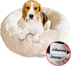 Docatgo Pet Bed, Donut Cat Bed 23X23 inches, Luxury Shag Faux Fur Donut Cuddler, Pet Cushion beds for Medium Cat and Dogs (Round)