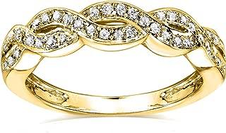 Diamond Braided Band 1/8 Carat (ctw) in 14k Yellow Gold