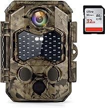 COOLIFE 32MP 4K Wildlife Camera Trekkersnelheid 0.2s Met 45 Onzichtbare Infrarood LED-lampjes IP66 Trail Camera Maximale O...