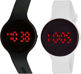 Pappi Boss LED Digital Black Dial Watch for Men and Women - HP0099 (Pack of 2)