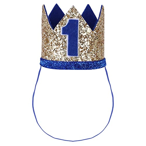 Prince Baby Boy First 1st Birthday Party Hat Prince Princess Crown Headband UK