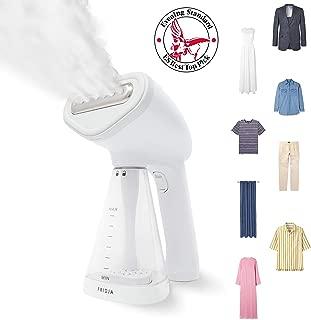 Fridja f10 Handheld Clothes Steamer, 1500W Potente vapor de tela, Steam de viaje portátil, Steam Iron, perfecto para el hogar y el viaje - Blanco