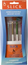 Crochet Hooks: Slick: Anodised Aluminium: Interchangeable: Assorted Sizes