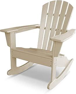 POLYWOOD Palm Coast Adirondack Rocking Chair, Sand