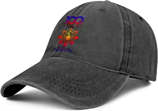 QILI 100 Years a Century of Camaraderie Demolay Men Women Classic Denim Hat Adjustable Snapback Trucker Cap