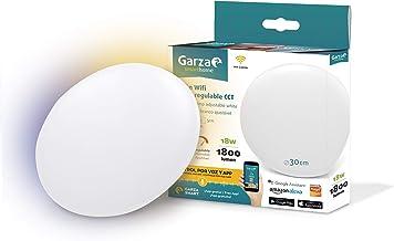 Garza Smarthome-plaphon, LED, WiFi, CCT, 18 W, intelligent en programmeerbaar, wijziging van intensiteit en geluidsalitei...