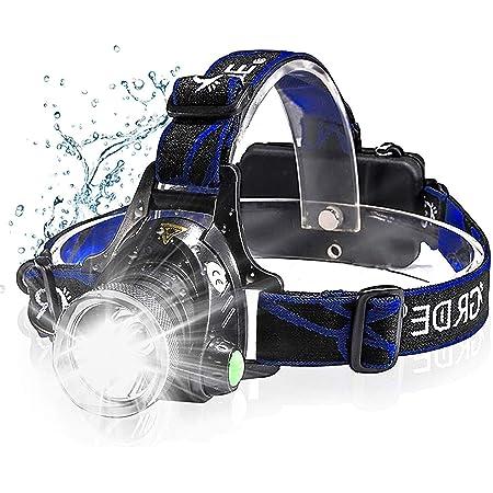 Arbeiten Perfekt f/ür Spazieren Autoreparatur Campen Super Hell Angeln LED Stirnlampe Wasserdicht OMERIL LED Kopflampe USB Wiederaufladbare Headlight
