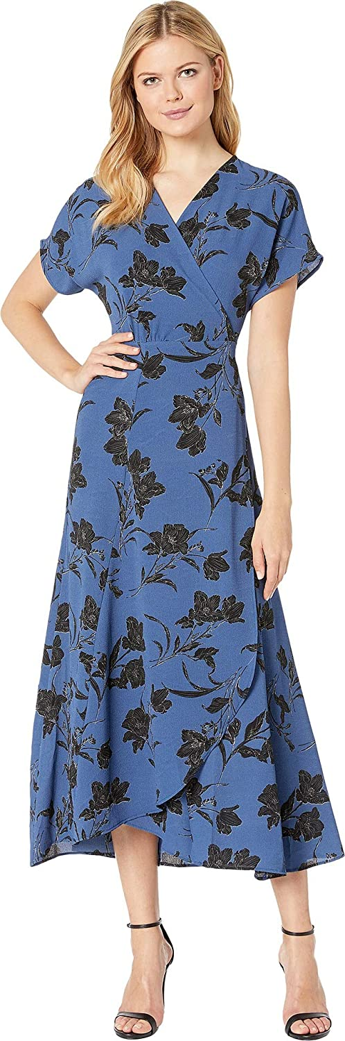 Bobeau Women's Printed Wrap Maxi Dress