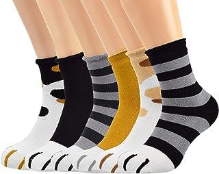 Voqeen, Calcetines Pies de Gatos para Mujer Calcetines Largos de Invierno para Dormir Calcetines Cálidos de Divertidos Calcetines Casa Mujer