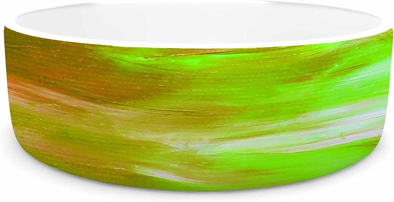 KESS InHouse EBI Emporium Bright Horizons 5  orange Multicolor Painting Pet Bowl, 7  Diameter