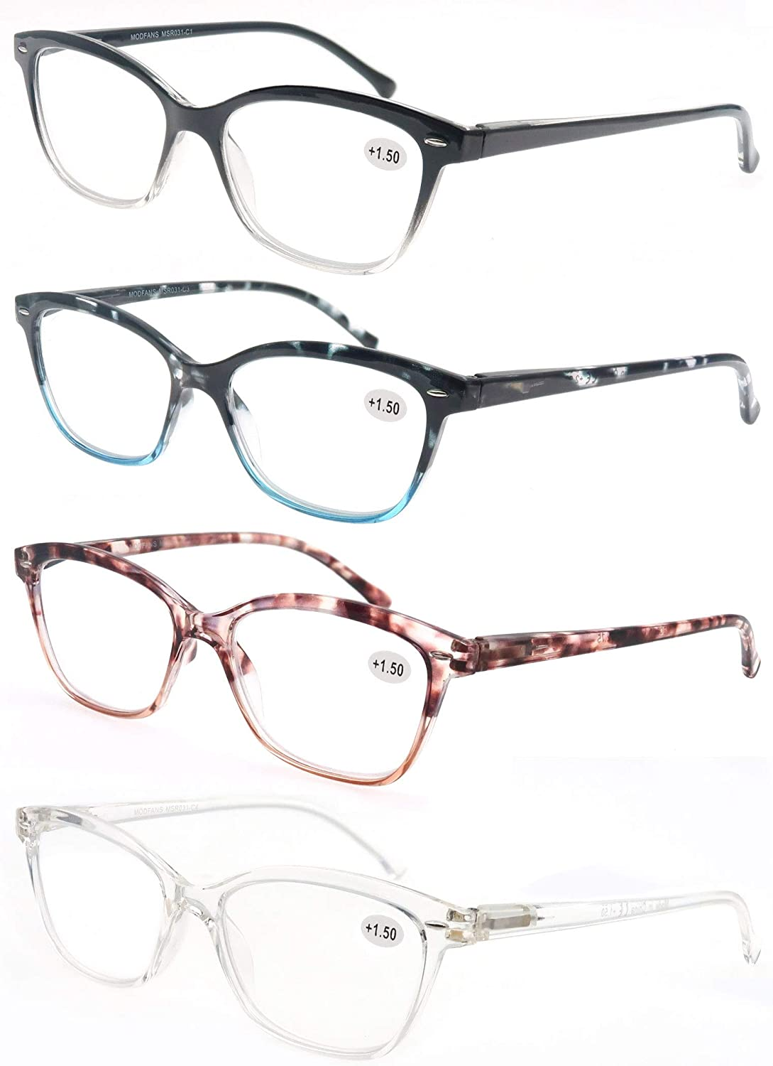 Buy MODFANS Womens Reading Glasses 20.20 20 Pack Stylish Ladies ...