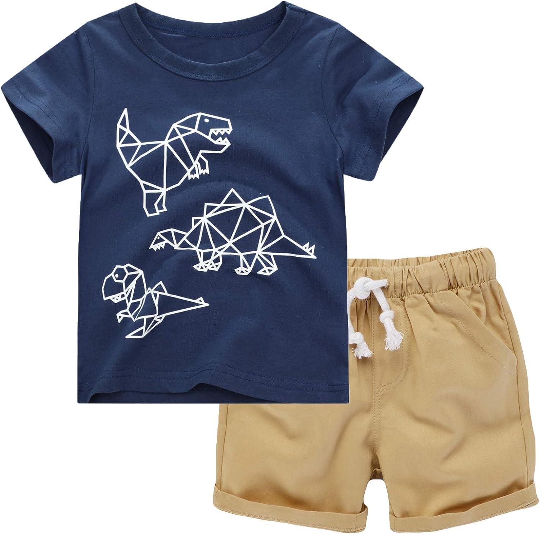 Toddler Boys Popular popular Shorts Set Las Vegas Mall Kids Summer Shirt Sleeve Short Sho and T