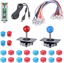 XCSOURCE 2 Players Zero Delay Arcade Game USB Encoder DIY Parts + Joystick + Push Buttons for MAME Sanwa Raspberry Pi AC782