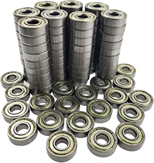 Sackorange 100 PCS 608 ZZ Skateboard Bearings, Double Shielded,8x22x7 Miniature Ball Bearings(Pack of 100)