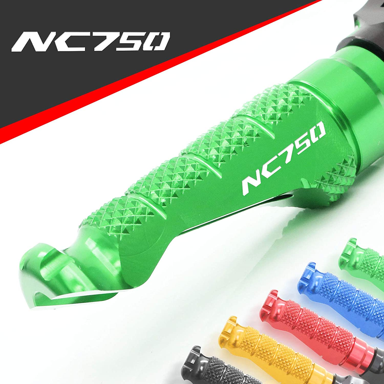 MC MOTOPARTS CNC R-FIGHT Front Rider Foot Pegs Footrests For Z125M MONKEY 125 2018-2019 Green