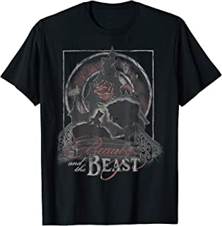Disney Beauty And The Beast Artsy Silhouette Poster T-Shirt
