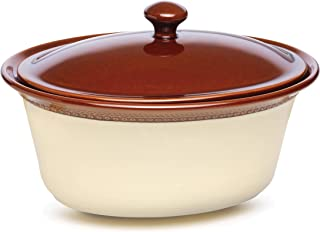 Paula Deen Signature Stoneware Southern Gathering 3.5-Quart Covered Oval Casserole