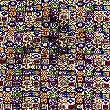 YZMY Baumwollstoff 20 * 34Cm Patchwork Rainbow Printed